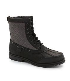 Polo Ralph Lauren Men's White Hill Boot Black/Gray 7.5 #PoloRalphLauren #Boots