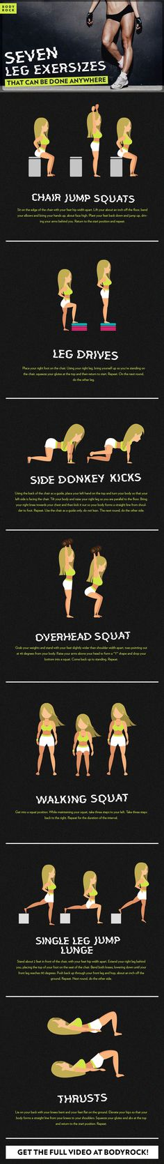 While sculpted abs and a toned tush seem to get the most glory, they aren't the only parts that matter. Your legs are just as important!