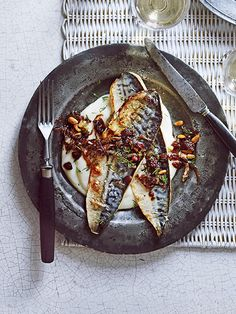 Sicilian mackerel with cauliflower purée