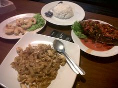 our dinner back then at Kedai Indra