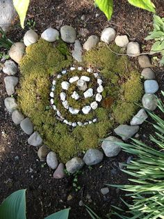 Cobbles, Moss, Hearts and a Spiral. Perfect!