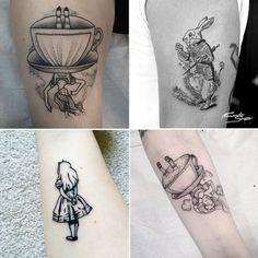 Tatuagem inspirada na Disney, Alice no País das Maravilhas