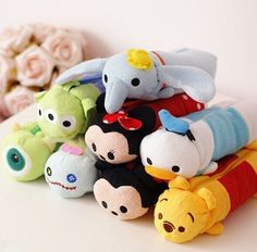 Kawaii School Supplies Tsum Tsum Mickey Mouse Winnie Storage Bag Pens/Pencil Bag #Unbranded