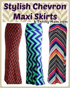 Chevron Maxi Skirt3