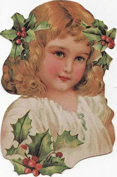 Christmas Angel.  Vintage Holiday Ephemera.