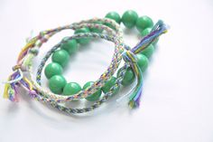 Friendship bracelets with a twist :: a DIY by // Between the Lines //, via Flickr