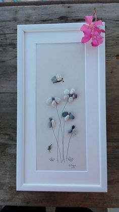 Pebble art Flowers new flowers gift wall от pebbleartSmiljana