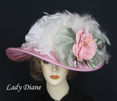 eccentric with a touch of elegance Tea Hats, Tea Party Hats, Fancy Hats, Cool Hats, Victorian Hats, Love Hat, Edwardian Fashion, Vogue, Derby Hats