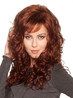 Baywatch Wig by BelleTress: Feast your eyes on this sexy, layered, spiral design featuring bold and bouncy curls. Subtle layering around the perimeter provides movement for the sultry, sexy look.