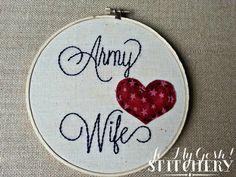 Customize for your branch and relationship! Military Relationship with Heart Detail by JoMyGoshStitchery, military spouse owned and operated