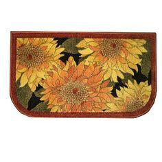 Autumn Sunflower Kitchen Rug