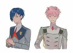 Zero two & ichigo male version Me Me Me Anime, Anime Guys, Manga Anime, Anime Art, Anime Meme, Anime Films, Anime Characters, Querida No Franxx, Akira