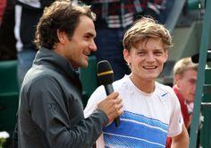 Goffin vs his idol Roger Federer