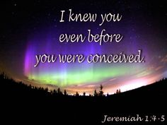 I knew you even before you were conceived. Father's Love Letter, Jeremiah 1, I Know, Fathers, Knowing You, Wisdom, Lettering, Words, Dads