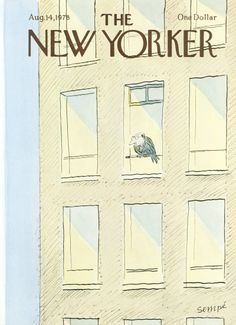 Jean-Jacques Sempé : Cover art for The New Yorker 2791 - 14 August 1978