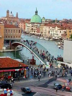 Piazzale Roma, Canal Grande e Ponte della Costituzione (Ponte di Calatrava), Venezia