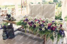 www.kamalion.com.mx - Decoración / Vintage / Rustic / Lilac & Mint / Lila & Menta / Decor / Flores / Flower / Boda / Centros de Mesa / Centerpiece / Mesa de Novios / Bride&Groom / Purple / White / Morado.