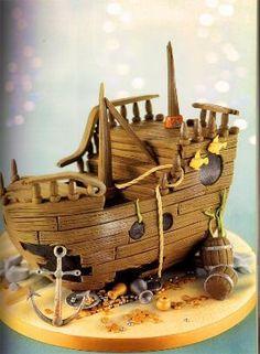 Sunken Ship Cake by Debbie Brown #provestra by leila