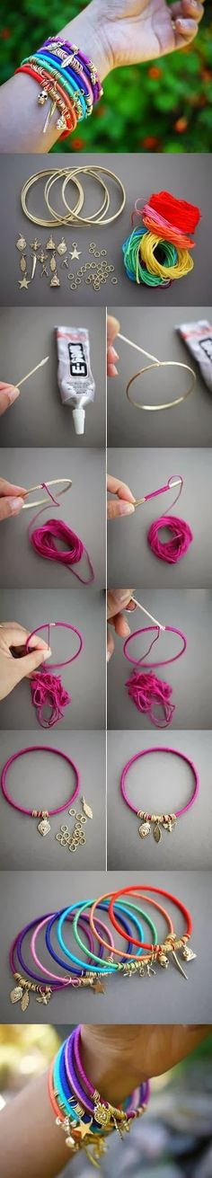 DIY Easy Summer Bracelet... IM IN LOVE
