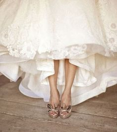 Wedding Dresses: Beautiful White Dress// Photo by Aaron Delesie via Inspired This.