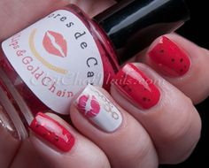 ChitChatNails » Blog Archive » Colores de Carol – Girls' Night Out Collection.  RED LIPS & GOLD CHAINS