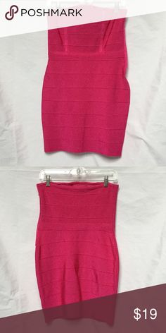 a73664afcf4 Pink strapless bandage dress Deep Pink strapless bandage dress with side  zip. Inside tag is ripped out but it fits like a medium. Note  bandage  dresses are ...