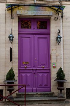 Sofrench.net blog  I love this #purple #door I guess I will have paint my door this color!