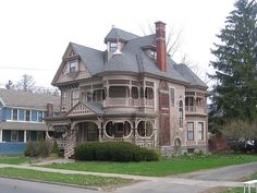 Cortland_NY This is the W. R. Greenman house, built in1895. George F. Barber was the architect. This design was published in the January, 1895 edition of Barbers periodical entitled American Homes