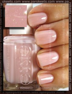 essie vanity fairest | sort of peachy-pink-nude and appears opaque  (but is it actually opaque?)
