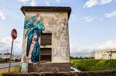 Jana & JS create a new piece in Fondi, Italy for Memorie Urbane