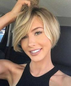 Top 35 Short Haircuts for Round Face 2018