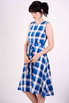 checked sleeveless dress