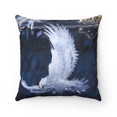 Spun Polyester Square Pillow Eagle Fine Art Dispatched from   Etsy Cushions For Sale, Boy Art, Source Of Inspiration, Simple Shapes, Background Patterns, Art Studios, Buddhism, Fashion Prints, Spinning