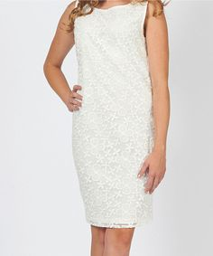 Take a look at this Bacci White Lace Dress on zulily today!