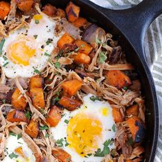 Pulled Pork Sweet Potato Hash and Eggs - 2Teaspoons