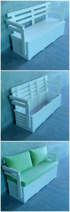 Designing a piece of couch with the wood pallet material is bringing a handsome sophistication look in the whole artwork. Here we have the perfect example for you! This wood pallet couch is additional featured with the functioning of the storage box under it. Planks are assemble together in manageable way that is its unique part.