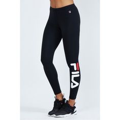 Striped Detail Leggings by Fila (€32) ❤ liked on Polyvore
