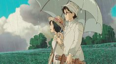 a rainy day in the wind rises
