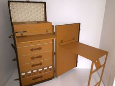 steamer trunk desk one of 20 ever made and the most expensive lv rh pinterest com antique steamer trunk storage desk antique steamer trunk storage desk