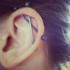 150+ Industrial Piercing Examples, Jewelry, Pain, Cost, Healing awesome