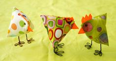 such CUTE birds!! I wonder if these would be hard or easy to do??