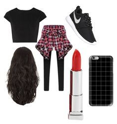 Untitled #6 by niam2cute on Polyvore featuring polyvore, fashion, style, Alice + Olivia, NIKE, Casetify, Maybelline and clothing