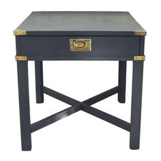 Gentil Vintage Lane Campaign Side Table / Nightstand On Chairish.com