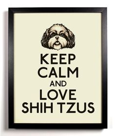 Keep Calm and Love Shih Tzus @Kirstie Malley Malley Knox