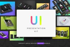 UI Presentation Kit, Device Mockups by LStore on Creative Market