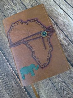 Leather Africa Bible with Verse- Can be customized with any country, animal, and verse on Etsy, $49.00