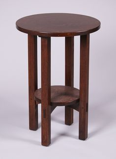 L&JG Stickley Lamp Table.  Unsigned.  Refinished.  29″h x 20″d