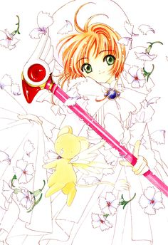 CLAMP, Cardcaptor Sakura, Kero-chan, Kinomoto Sakura, Sealing Wand (Dormant Form), Gemstone