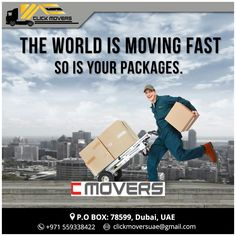 The World Is Moving Fast... So Is Your Packages !!! Click Movers UAE +971 559338422 clickmoversuae@gmail.com #BestMoversInDubai #BestMoversInAbuDhabi #BestMoversInSharjah #CheapRateMoversinDubai #ProfessionalMoversInDubai #ProfessionalMoversInAbuDhabi #ProfessionalMovingCompanyInUAE #ProfessionalMovingCompanyInDubai #ProfessionalMovingCompanyInAbuDhabi #ProfessionalMovingServicesInDubai #ProfessionalMovingServicesInSharjah #MoversAndPackersInUAE #MoversAndPackersInDubai