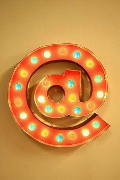 At Symbol Marquee Light